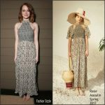 "Emma Stone  In Rosie Assoulin At The ""La La Land"" LA Screening"