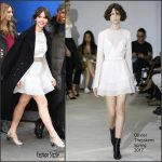 Felicity Jones  In Olivier Theyskens At  Good Morning America