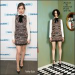 Hailee Steinfeld  In Alice and Olivia  At Sirius XM Studios In New York