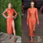 Hailey Baldwin  In Baja East  At The 2016 CFDA/Vogue Fashion Fund Awards