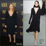 Jessica Chastain  In Antonio Berardi At HFPA & InStyle Celebrate The 2017 Golden Globe Award Season