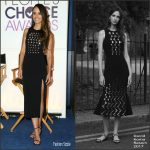 Jordana Brewster In David Koma At The 2017 People's Choice Awards Nominations Press Conference