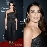 Lea Michele  In Lela Rose At The Grove Christmas With  Seth MacFarlane Holiday Special