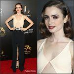 Lily Collins  In David Koma  At The 2016  Hollywood Film Awards