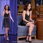 Lily Collins  In David Koma At Tonight Show Starring Jimmy Fallon