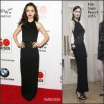 Lily Collins In Elie Saab At 10th Annual GO Campaign Gala