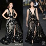 Lily Collins  In Elie Saab At  Museum Of The Moving Image 30th Annual Salute