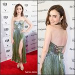 Lily Collins   In  Maria Lucia  Hohan   At The Rules Don't Apply'  San Francisco Premiere