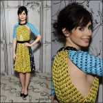 Lily Collins   In Mary Katrantzou  At  AOL BUILD Series  In New York