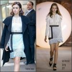 Lily Collins  In Self Portrait On The Today Show
