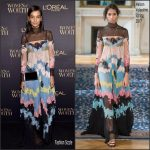 Liya Kebede  In Maison Valentino At The L'ORÉAL Paris Women Of Worth Awards