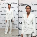 Naomie Harris  In Dolce & Gabbana  At The Brooklyn Public Library