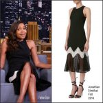 Naomie Harris  In Jonathan Simkhai At Tonight Show starring Jimmy Fallon