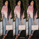 Nicki Minaj  In  J. Mendel  Jacket – Istagram Pic