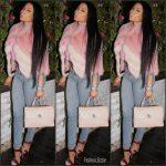 Nicki Minaj  In  J. Mendel  Jacket – Istagram Pic