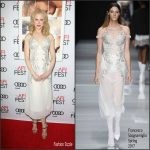 Nicole Kidman  In Francesco Scognamiglio At Lion Movie  AFI FEST Premiere