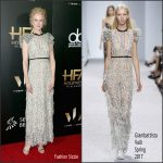 Nicole Kidman  In Giambattista Valli  At Hollywood  Film Awards