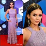 Nina Dobrev  In Elie Saab At the 2016  MTV EMAs