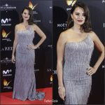 Penelope Cruz in  Atelier Versace gown at 'The Queen of Spain' Madrid Premiere