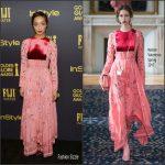 Ruth Negga  In Maison Valentino At  HFPA & InStyle 2017 Golden Globe Awards Season Event