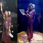 Sarah Jessica Parker In  Dolce & Gabbana At the L'Eden By Perrier-Jouet Art Basel Opening Night