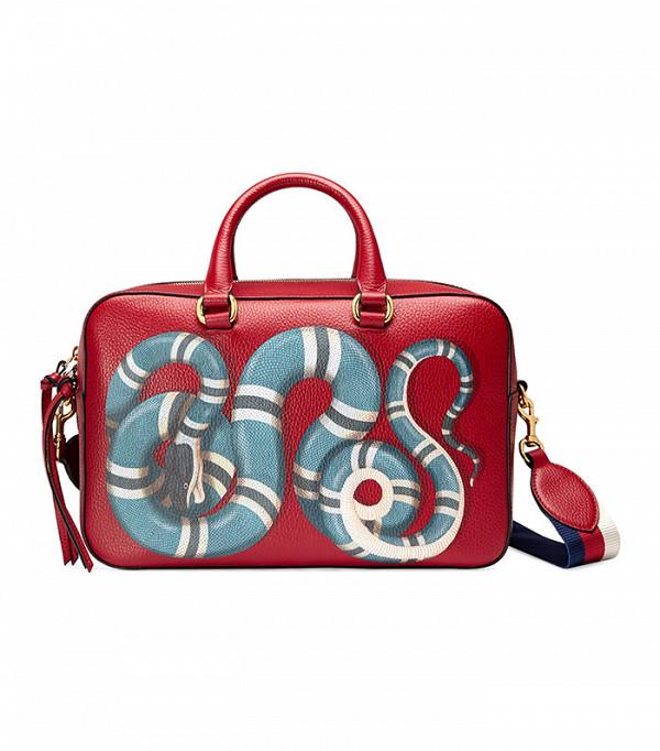 Gucci Snake Print Leather Top Handle Bag ($2,100)