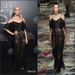 Zoe Kravitz  In Alexander McQueen  At  Fantastic Beasts New York Premiere