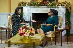 Michelle Obama wears  Preen  On Interview  With  Oprah  Winfrey