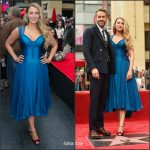 Blake Lively  In Atelier Versace At The  Hollywood Walk of Fame Ceremony
