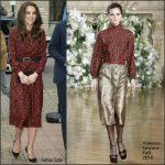 Catherine , Duchess Of Cambridge In Vanessa Seward  At A Christmas Event