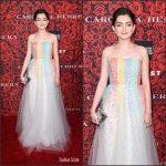 "Emily Robinson In Carolina Herrera  At ""An Evening Honoring Carolina Herrera"" Event"