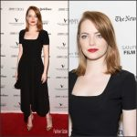 Emma Stone  In Preen  At La La Land San Francisco Screening