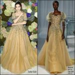 Fan Bingbing  In Reem Acra  At De Beers Flagship Store Opening  In New York