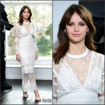 Felicity Jones  In Burberry  At The  Rogue One London  Photocall