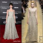 """Felicity Jones In Christian Dior At   """"Rogue One""""   A Star Wars Story LA Premiere"""