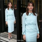 Felicity Jones  In  Emilia Wickstead  At BBC Radio 2  In London