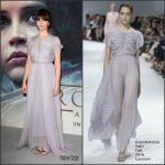 "Felicity Jones  In Giambattista Valli At  ""Rogue One"" A Star Wars Story   London Screening"