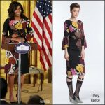 First Lady Michelle Obama  In Tracy Reece At  White House Veteran's Homelessness Summit