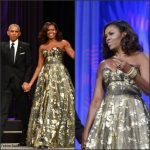 First Lady Michelle Obama Wears Naeem Khan  At  the Phoenix Awards Dinner