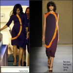 First Lady Michelle Obama Wears Narcisco Rodriguez In Buenos Aires, Argentina