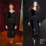 Gemma Arterton  In Roland Mouret  At Saint Joan Press Night in London