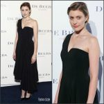 Greta Gerwig  In Rosetta Getty At  At De Beers Flagship Store Opening In New York