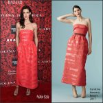 "Hilary Rhoda In  Carolina Herrera At ""An Evening Honoring Carolina Herrera"" Event"