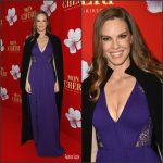 Hilary Swank In Elie Saab  At The  Mon Cheri Barbara Tag  Charity Event in Germany