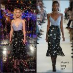 Jennifer Lawrence In Altuzarra   At The  Passengers LA Photocall