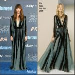 Jessica Biel  In  Elie Saab  At The 2016  Critics Choice Awards