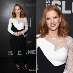 Jessica Chastain In Elie Saab  At The Miss Sloane New York Premiere