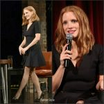 Jessica Chastain  In Dior  At Inside The Actors Studio &  A Special Academy Screening of Miss Sloane