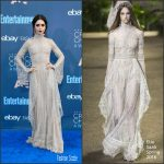 Lily Collins  In Elie Saab At The 2016 Critics Choice Awards