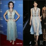 Lily Collins  In Reem Acra  At the Santa Barbara International Film Festival to honor Warren Beatty